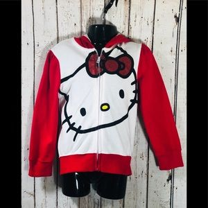 Hello Kitty Zippered Hoodie With Bow Ears